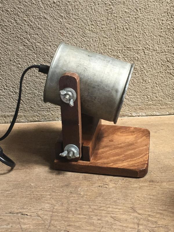 Vintage industriële lamp xs wandlamp bedlamp bedlampje tafellamp Burolamp industrieel bureaulamp landelijk industrieel hout metaal zink zinken