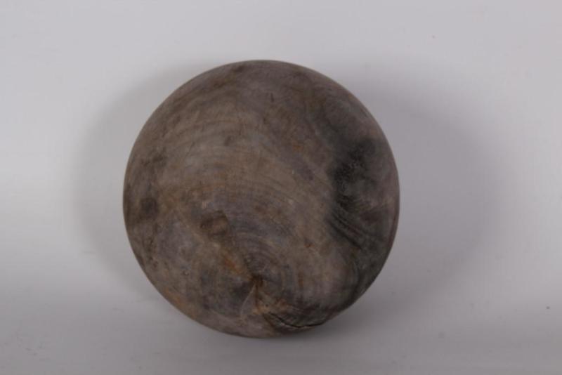 Vergrijsd houten bal bol decoratiebol landelijk stoer sober hout grijs klein 7 cm small