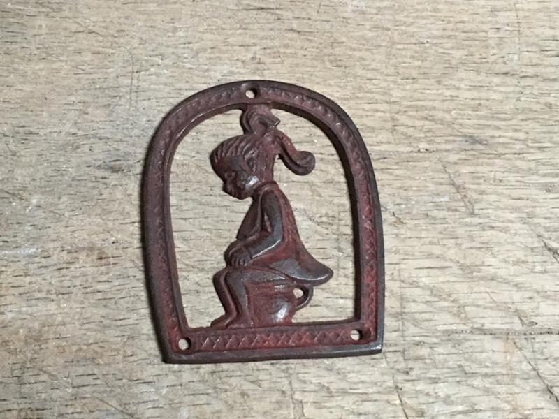 Nostalgische deurbordjes deur bordje dames meisjes vrouwen naambordje plaatje wc toilet gietijzer gietijzeren
