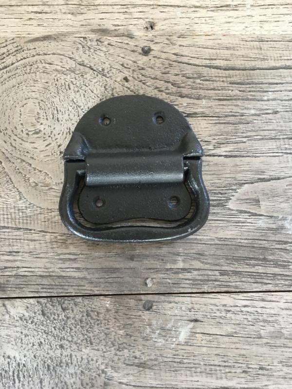 Zware kwaliteit gietijzeren deurknop handgreep kistgreep kist greep strak zwart beugel handvat  klink deurklink