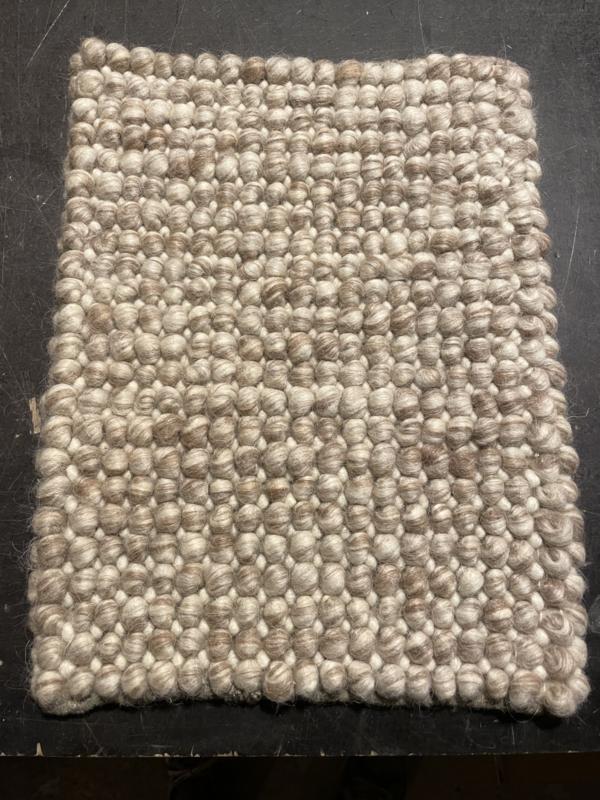 Staal vloerkleed (grof) wol
