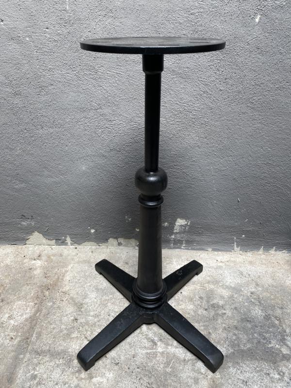 Zwaar zwart gietijzeren Tafelonderstel onderstel tafel gietijzer nickel tafel poot kolom voet bistro bistrotafeltje