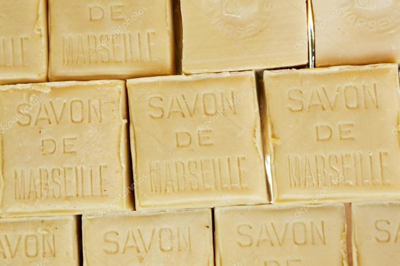 Grof blok savon de  Marseille zeep beige naturel landelijk robuust stuk 300 gram