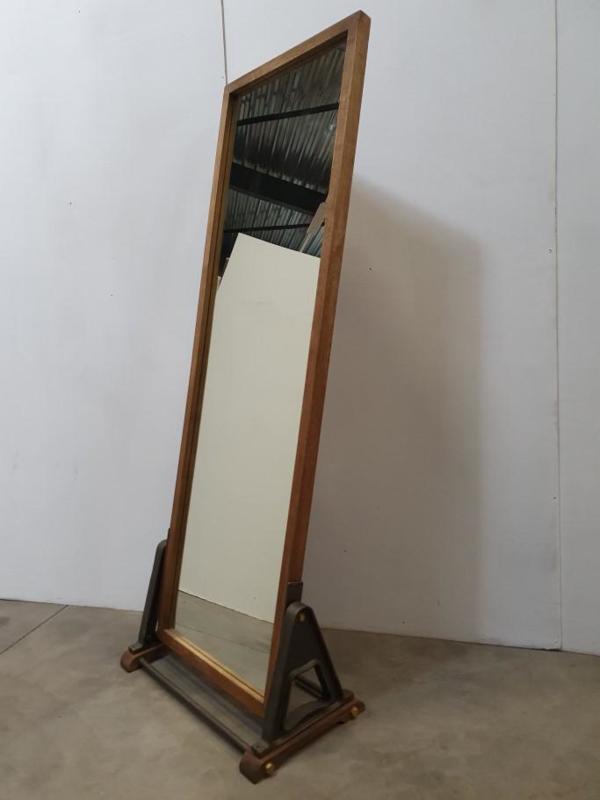 passpiegel spiegel industrieël hout 71x188cm