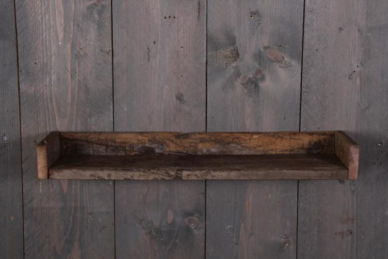 Oud sloophouten wandplank console wandrek 45 cm landelijk stoer plank hout ruw robuust