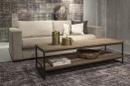 Stoere truckwood salontafel tafel bijzettafel sidetable tv televisiemeubel kast lounge metalen onderstel landelijk industrieel H45 x 160 x 50 cm