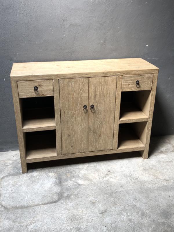 Landelijke licht houten kast 120 x 40 x H90 cm wastafelmeubel badkamermeubel sidetable landelijk stoer