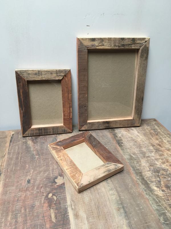 Vergrijsd truckwood houten hout 10 x 15 cm fotolijst fotolijstje fotolijstjes