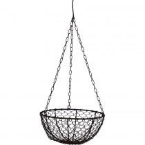 Draadmand hangen basket hangmand mand mandje hanging fruitschaal bloempot landelijk industrieel vintage 30 x 15 cm