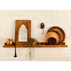 Lange houten wandplank plank wandconsole landelijk naturel fotoplank hout stoer 100 cm