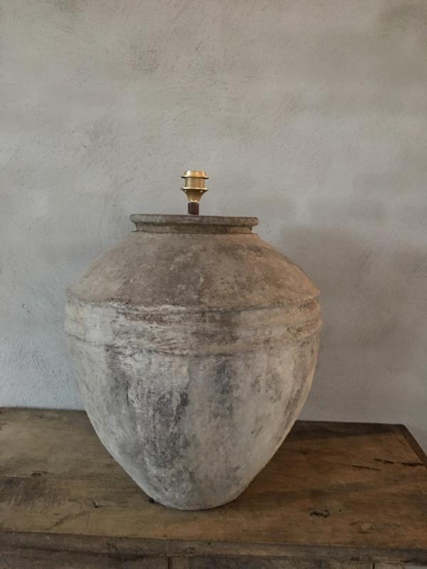 Mega Grote kruiklamp gemaakt van oude kruik waterkruik landelijk sober stoer