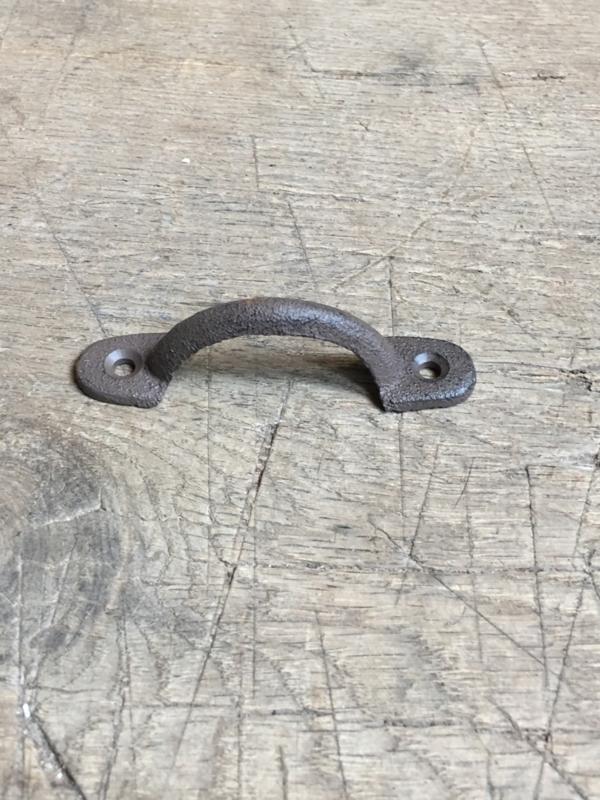 Gietijzeren handgreepje greepje deurknop landelijk handgreep handvat bruin landelijk boerengreepje
