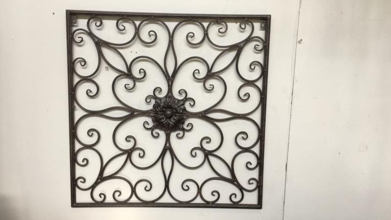 Metalen Wandpaneel wanddecoratie hek wandornament landelijk vintage