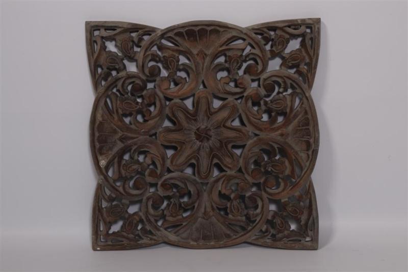 Stoer landelijk oud houten wandpaneel 45 x 45 cm grijs wandornament luikjes wandpanelen wanddecoratie hout panelen luiken