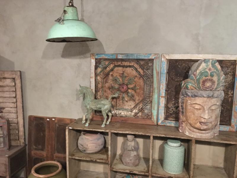 Gave mintgroene Oude metalen vintage industriële lamp hanglamp