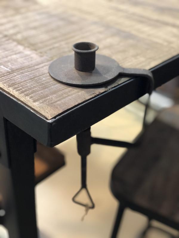 Smeedijzeren kandelaar tafelkandelaar