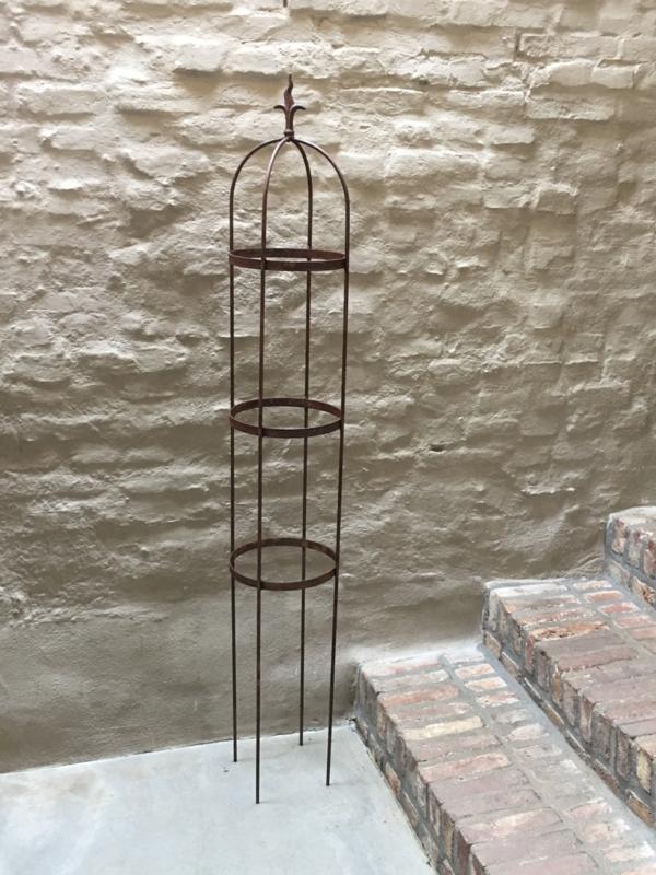 Smeedijzeren ornament obelisk 100 cm tuinsteker tuinornament klimrek rek klimplant