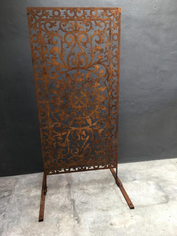 Prachtig groot metalen stalen roest tuinscherm cortenstaal scherm paneel tuin kamerscherm 183 x 85 cm