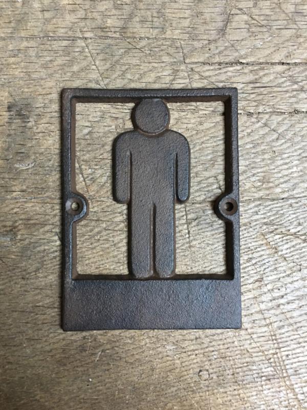 Nostalgische deurbordjes deur bordje heer man mannen  heren jongens naambordje plaatje wc toilet gietijzer gietijzeren