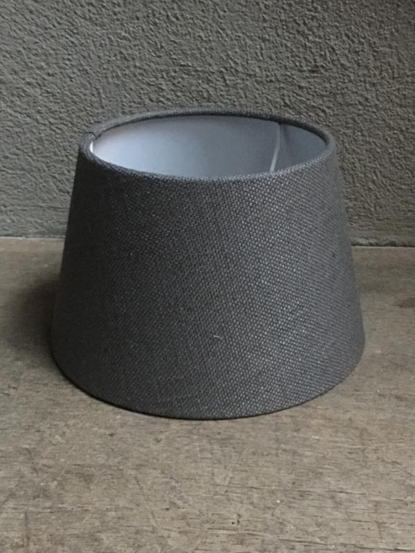 Lampekap lampekapje grijs antraciet donkergrijs zwart grijze antreciet 25 cm ton tonnetje tonmodel
