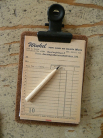 clipboard with order lists