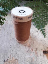 naaigaren biologisch katoen kleur: warmbruin