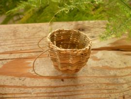 Wicker carrier basket