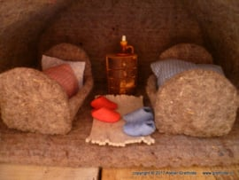 """Felt Kit  """"Two mice cots"""" with pattern"""
