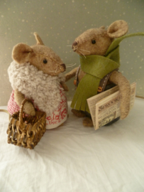 Felt Kit Mom and Dad Mouse with pattern