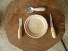houten bestek set