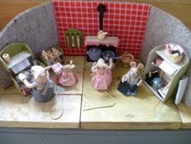 """Patroon """"De keuken van familie muis"""""""