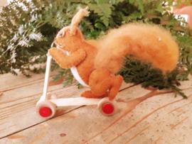 houten step *rode wieltjes