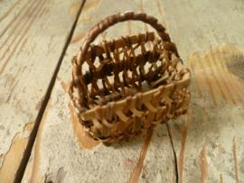 bamboe mandje met hengsel