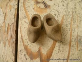 Houten klompjes verweerd hout