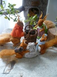 """Materiaalpakket """"boom van familie eekhoorn"""" met. patroon"""