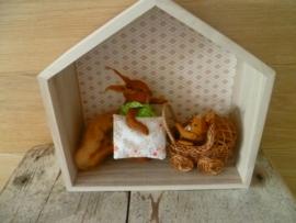 3 houten huisjes set