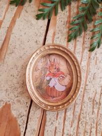schilderijtje Mrs. Rabbit