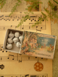 10 witte kerst belletjes