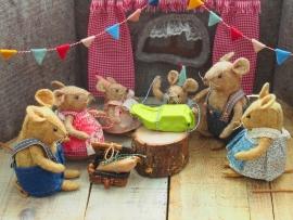 Patroon Feest in het muizenhuis