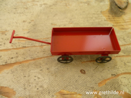 Cart of red metal