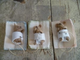 Felt Kit 'Baby Mice Born' with pattern