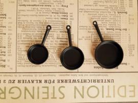 set van 3 koekenpannen zwart