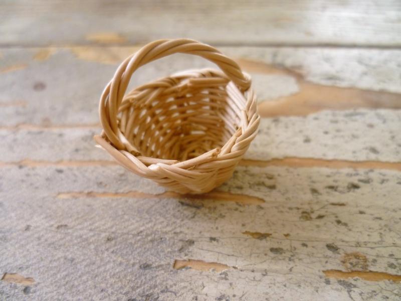 wicker basket natural 2 cm diameter