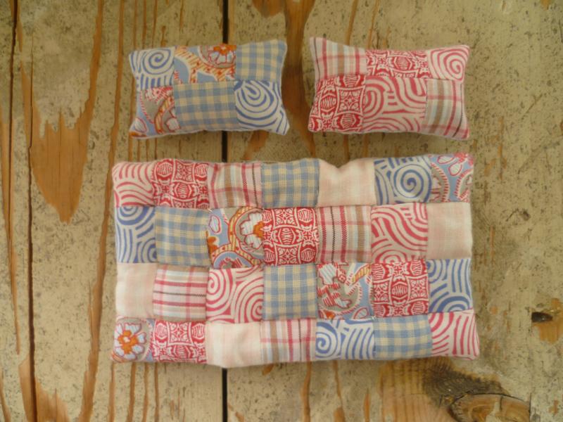 Patchwork quilt met patroon