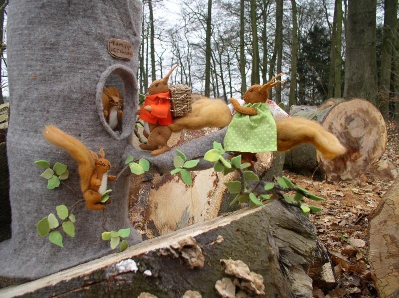 Patroon Familie eekhoorn