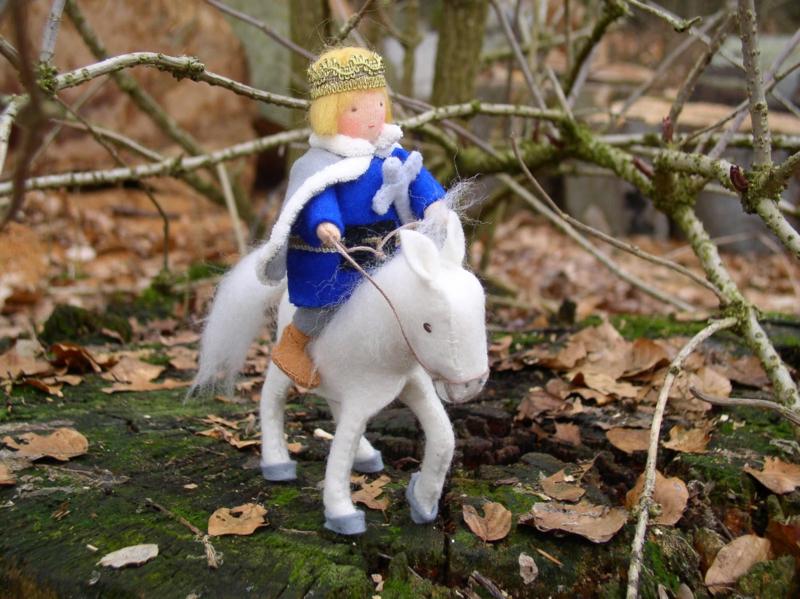 Patroon De prins op het witte paard