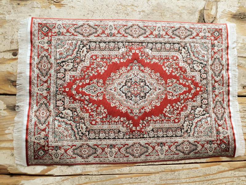Perzisch vloerkleed rood
