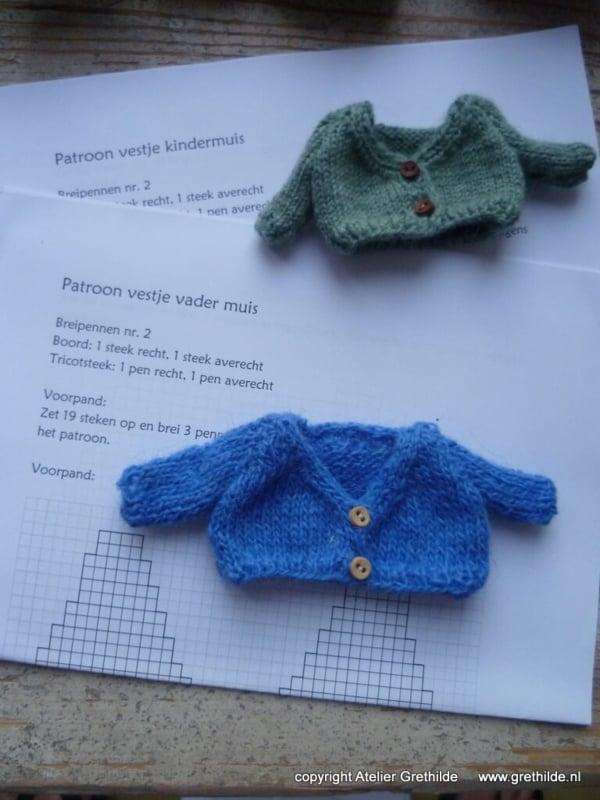 breipatroon voor een vestje voor een muisje