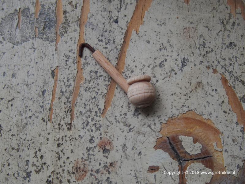 houten pijp 3 cm