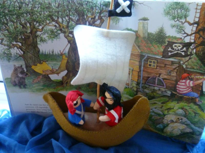 PatroonPiratenschip met piraten